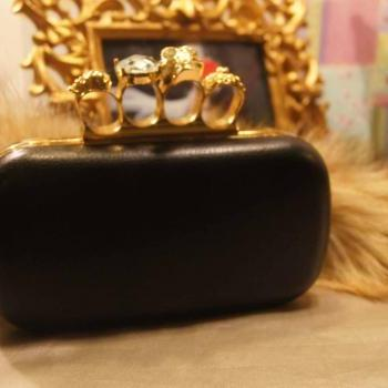 Punk Duster Skull Ring Kuncklebox Evening Wedding Party Club Chain Clutches Bags